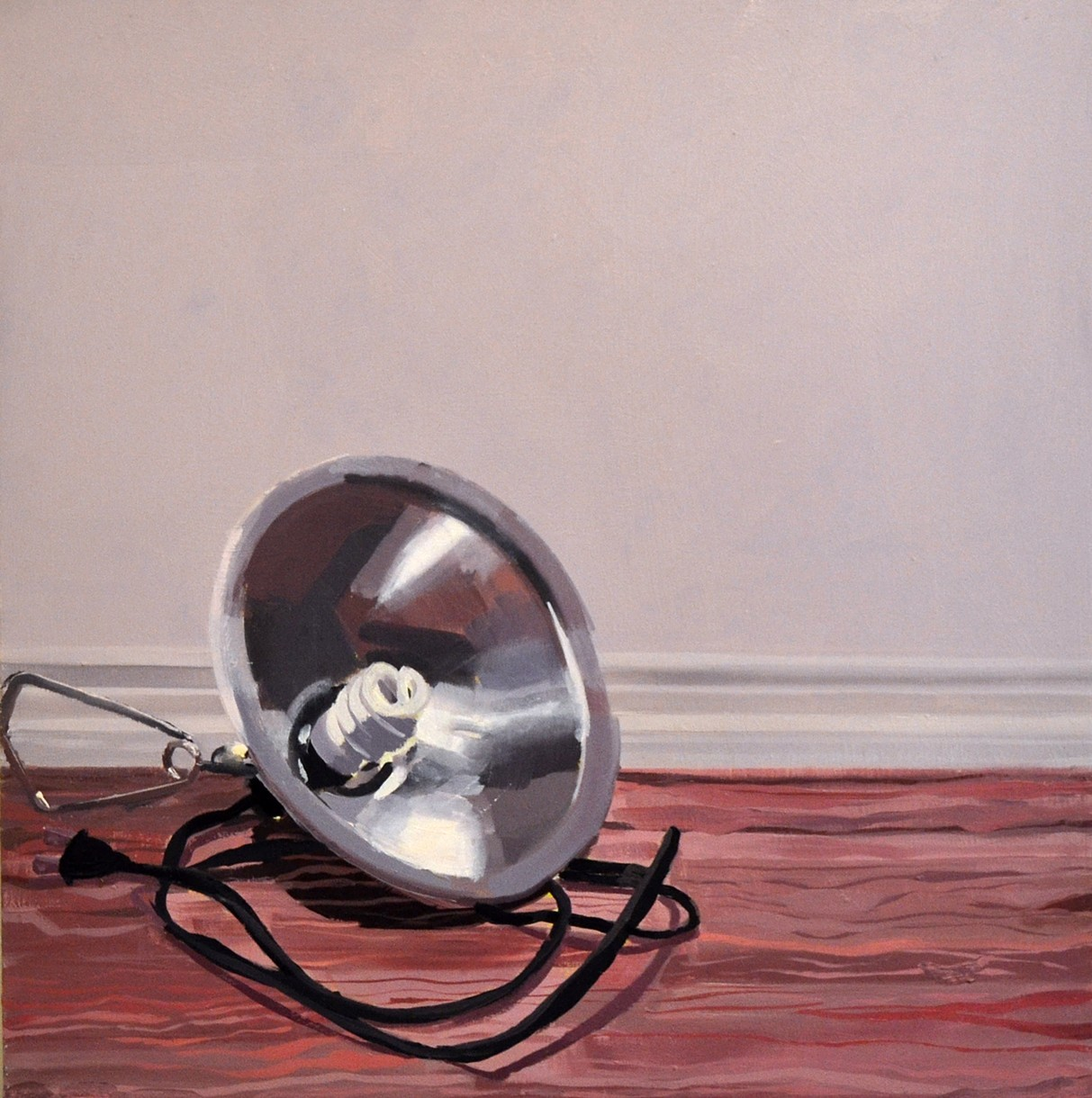 Studio Floor With Lamp,  oil on canvas, 2015 @Brandon Elijah Johnson