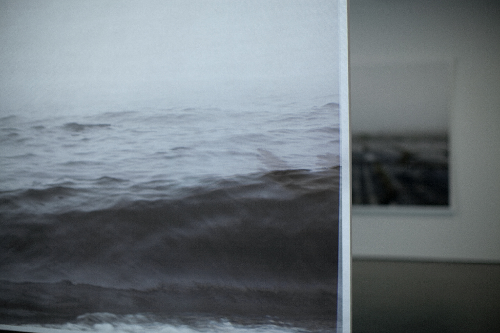 Mirari , (detail) documentation of the installation, Galerie de l'UQAM, Digital printing and HD video, 152 x 222 cm, 7 min, 2013 @Léna Mill-Reuillard