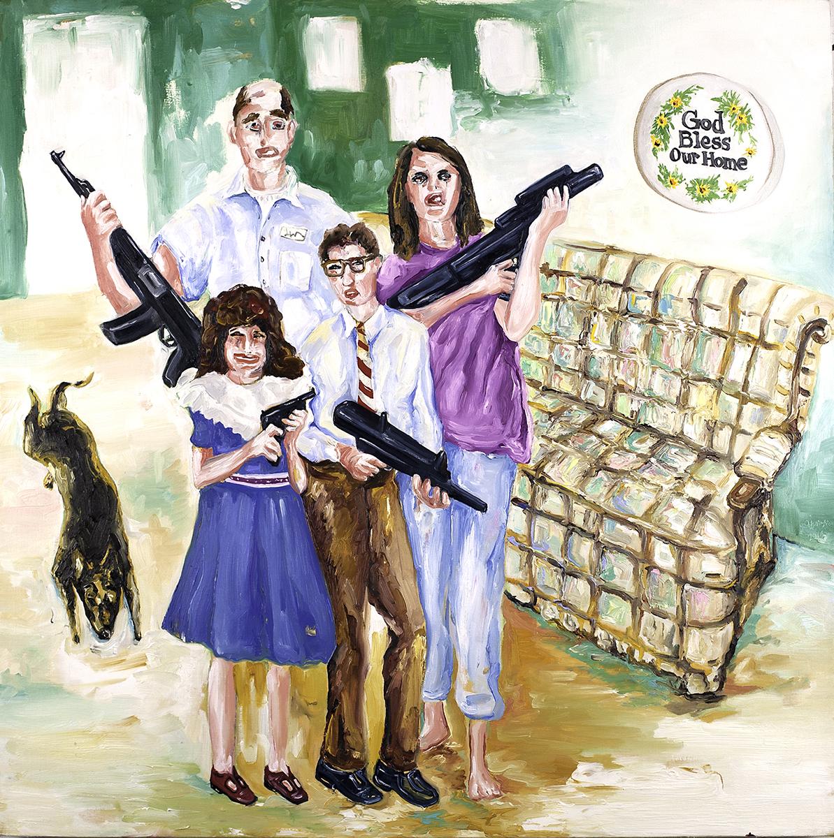 American Family , oil on canvas,2016 @ Joe Carrozzo