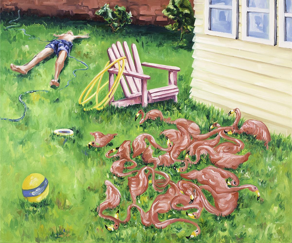Sunbathers , o  il on canvas  , 2016  @Joe Carrozzo
