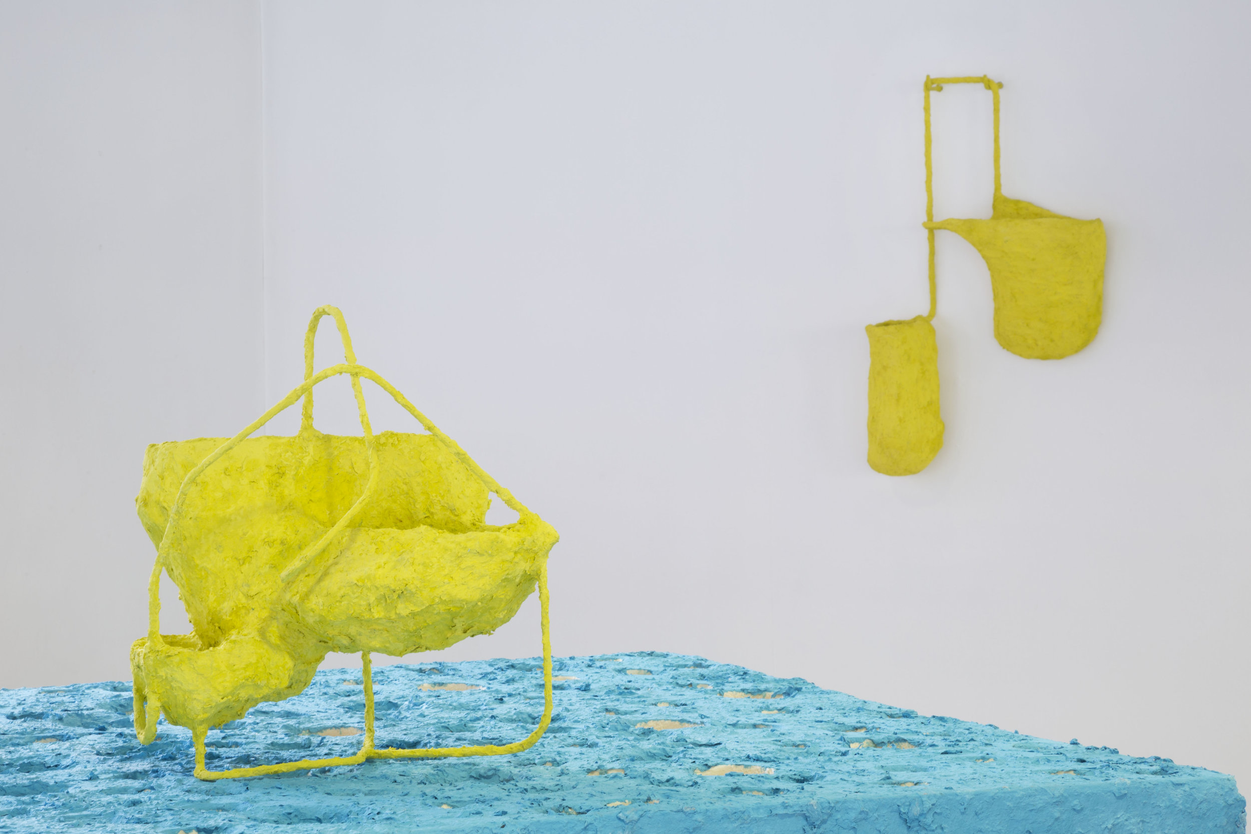 Left to Right: Air Pocket (three graces), Air Pocket (yellow), 2018