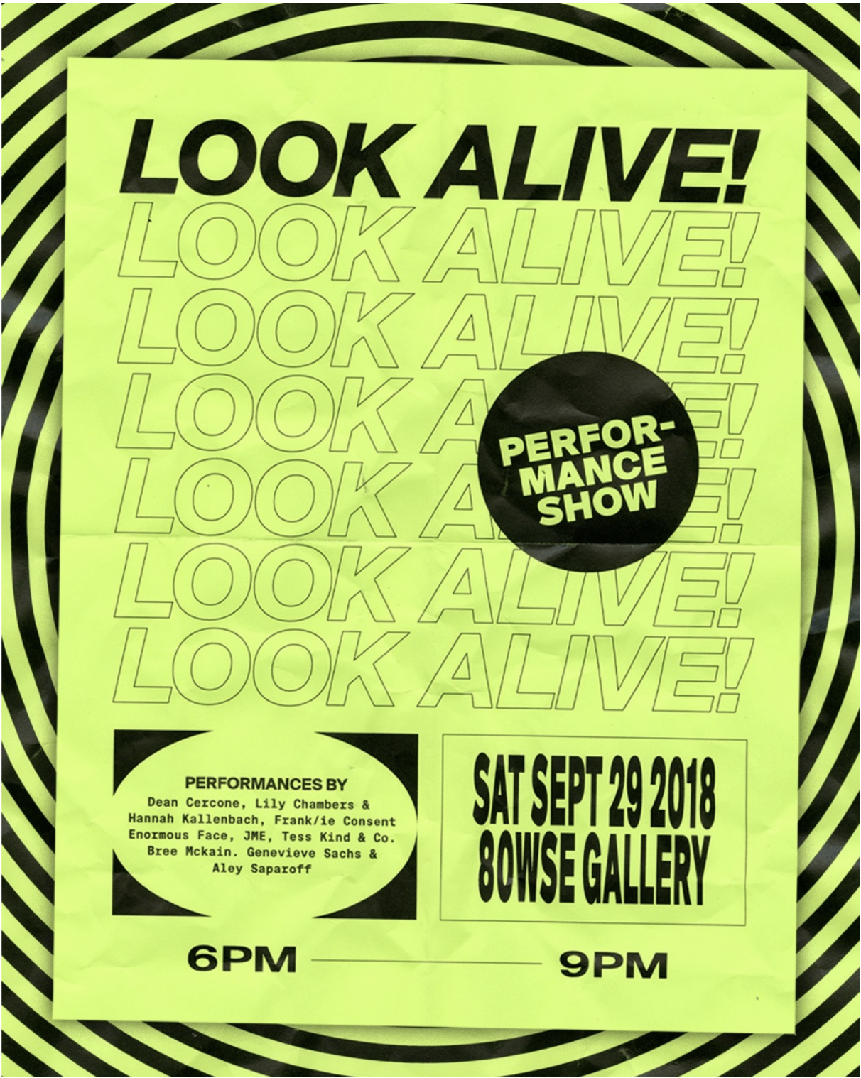Look Alive! Poster by Christina Nahas.
