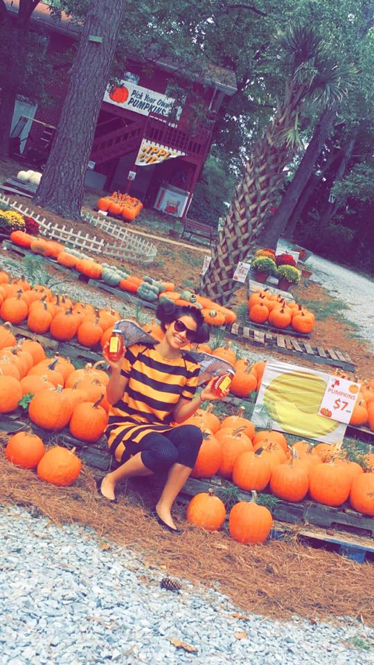 Choose any of our larger pumpkins & Grab some Local Honey while you're at it !