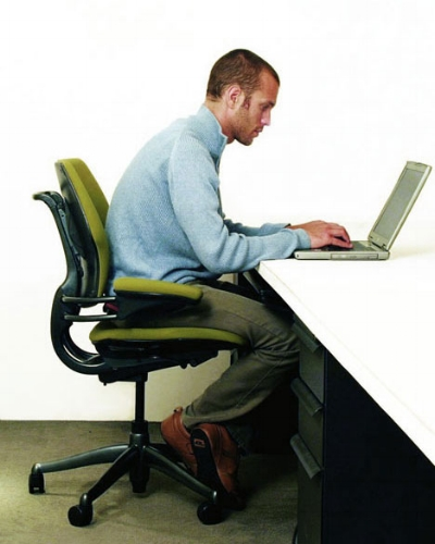 Does this posture look familiar to you? It is probably a major cause of your back pain, shoulder/neck pain, and headaches!