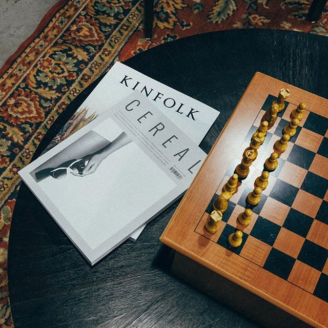 Come by for good reads before your cut or challenge someone to a gentlemen's game of chess!