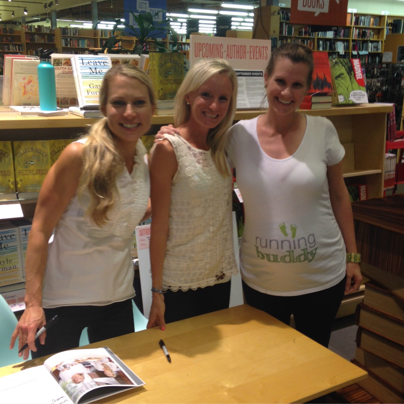 With Elyse Kopecky and Shalane Flanagan at Powell's in Beaverton