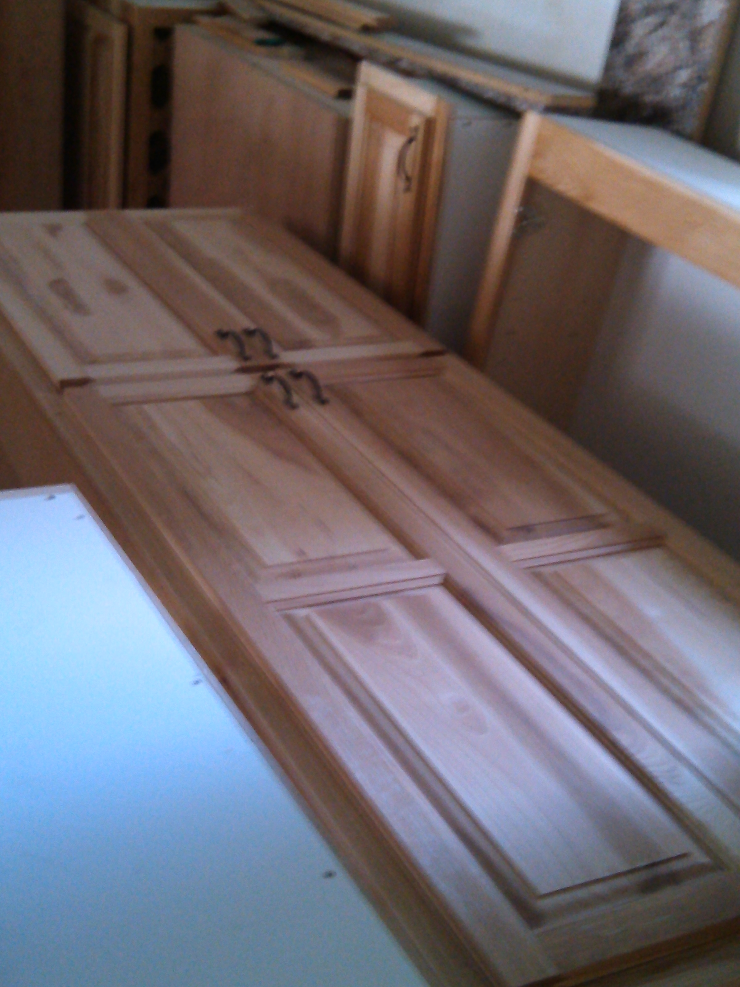 Stand alone closet- hickory, natural stain and laquer