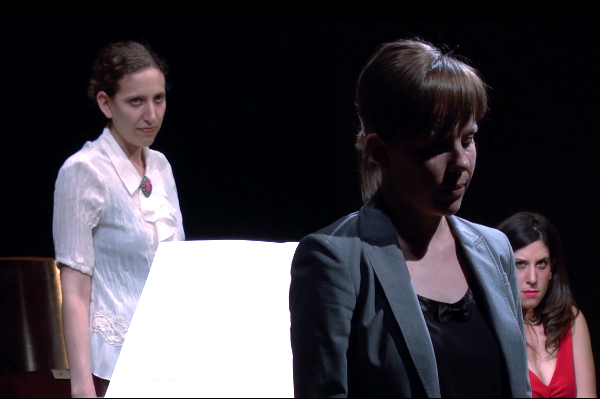 NO EXIT   (2014), a music theater work by Chicago Q Ensemble