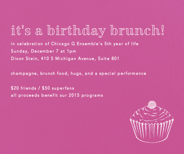 Invitation design for fundraising brunch, 2014