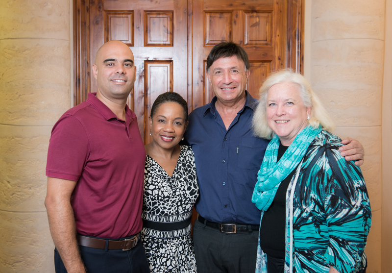 Pictured left to right: Jeffrey Borges, Deputy Commissioner of St. John Ambulance; Gita Blakeney-Saltus, Executive Director of Pathways Bermuda; David Ezekiel, Country Corporate Officer of Marsh & McLennan Companies, Bermuda and Chairman of Marsh's Bermuda Charity Committee; and Annemarie E. Tobin, Director of the Sunshine League.