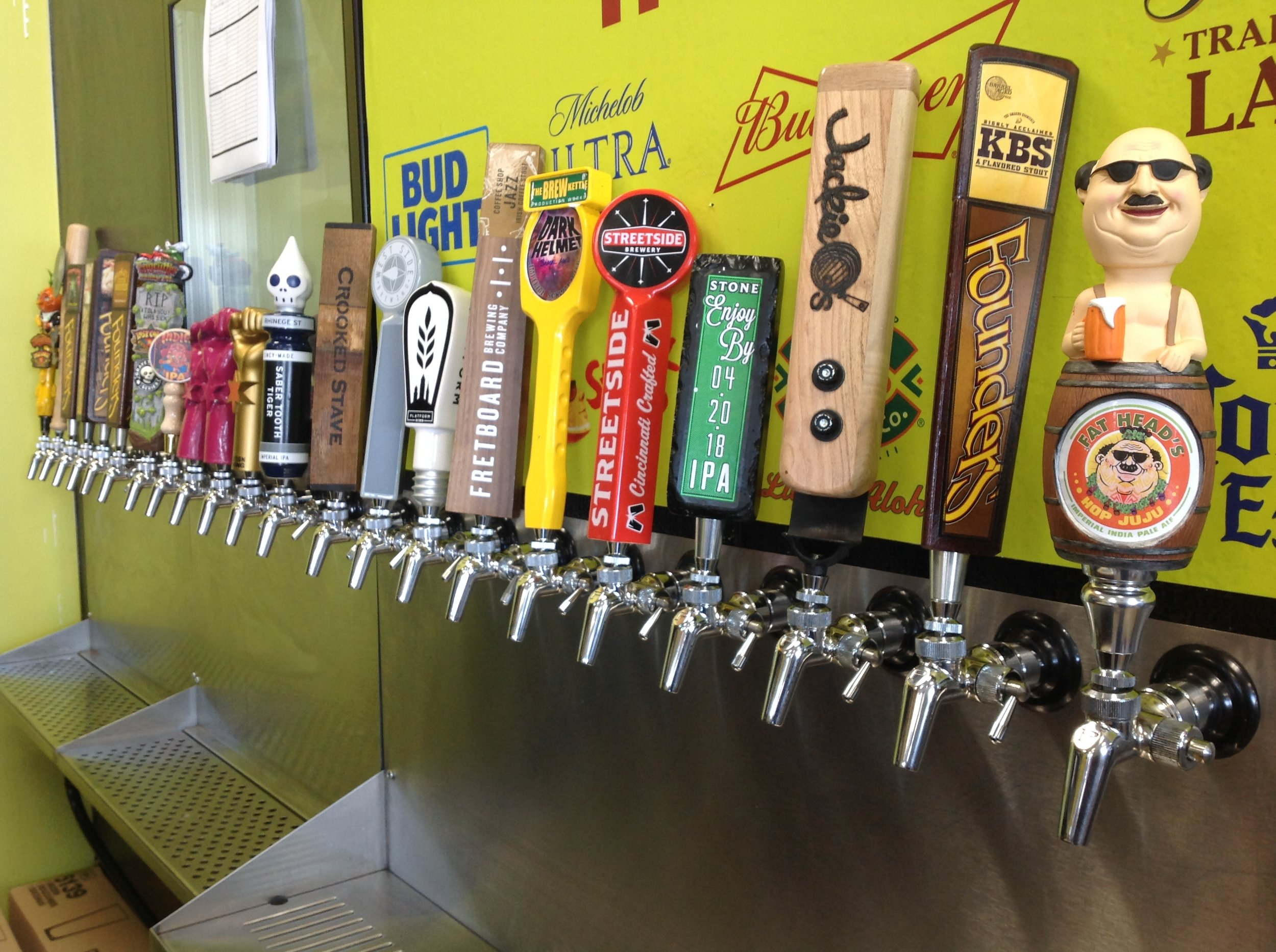 We now have 21 taps and the ability to serve pints of beer, as well as fill your growlers or our crowlers!
