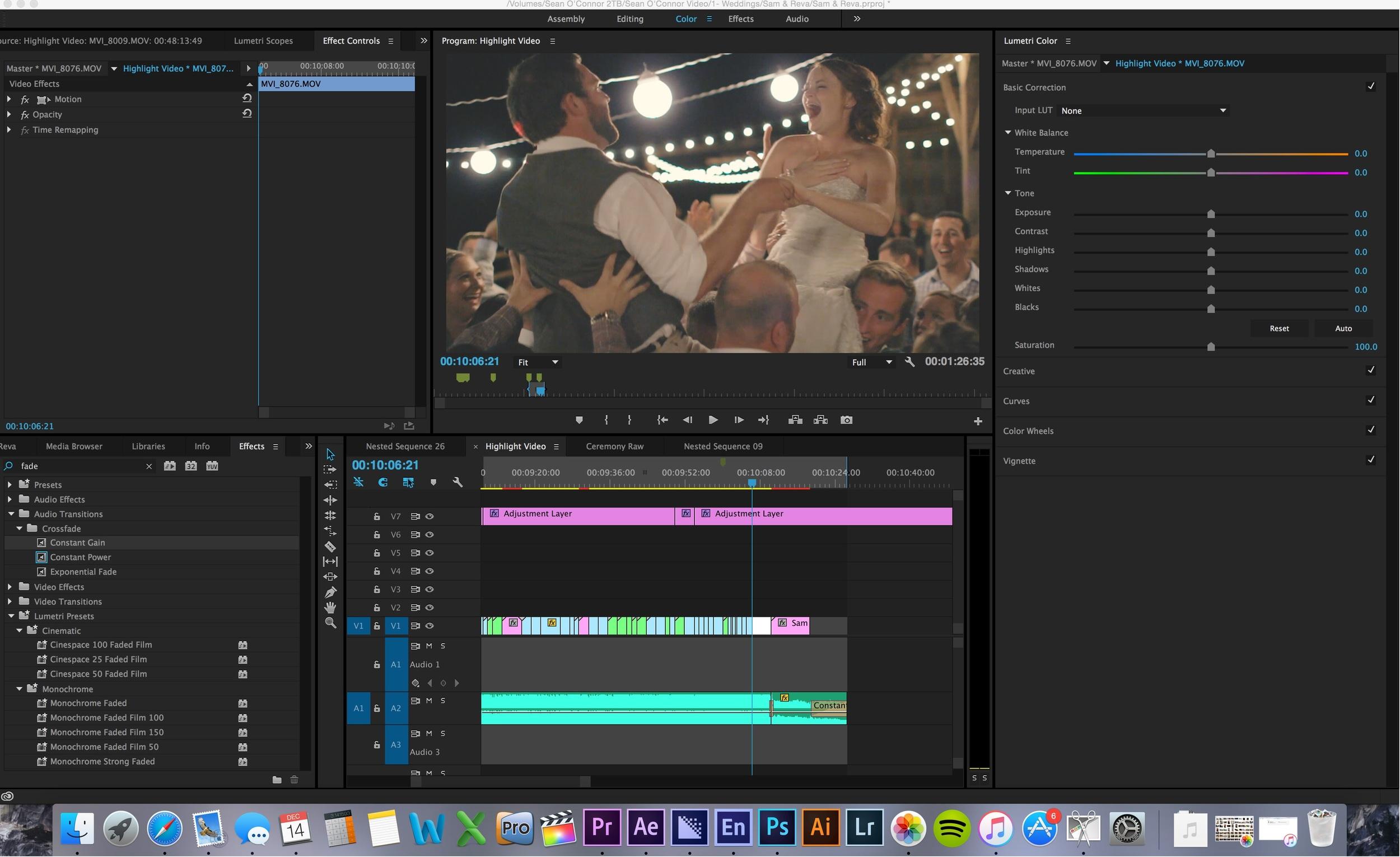 A little screen-shot when I was working on Samuel + Reva's Teaser video.