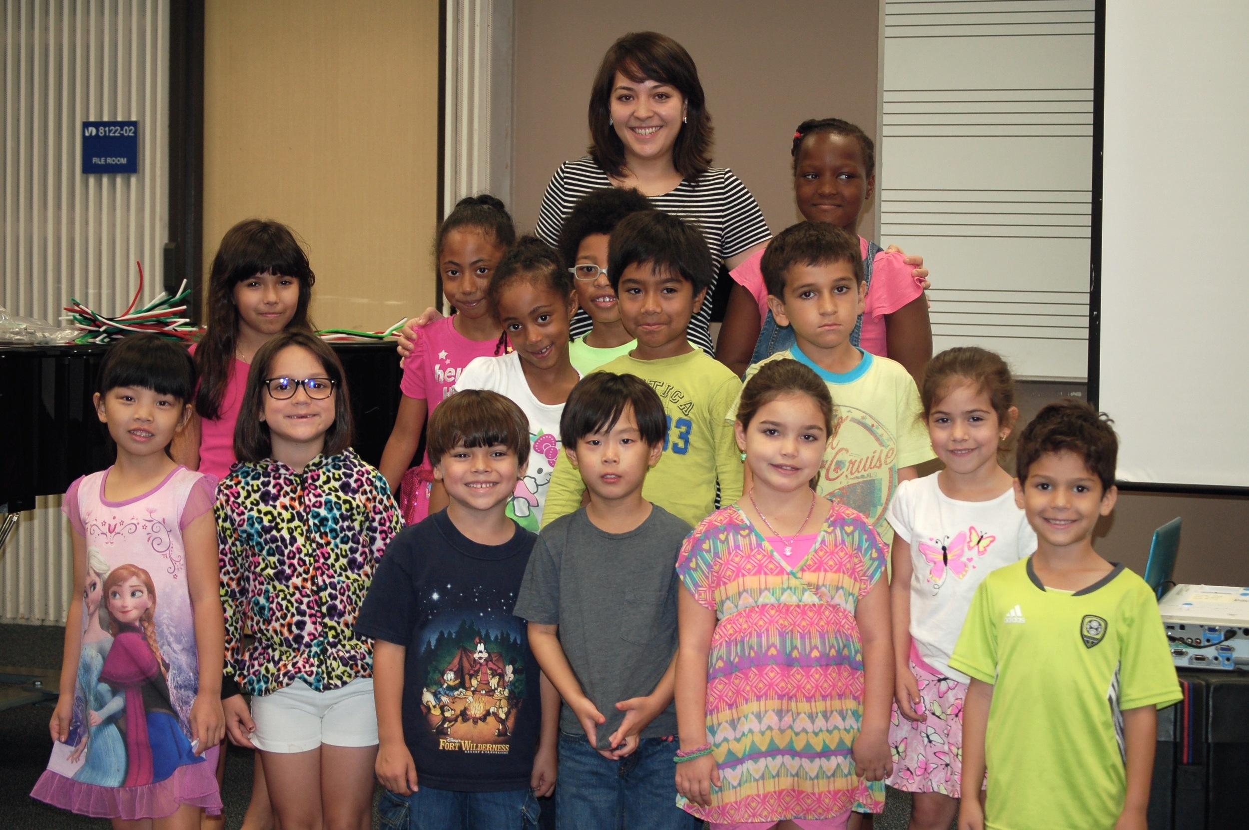 Michelle Godbee and the GMYS cello students after the Ear Peace Foundation presentation