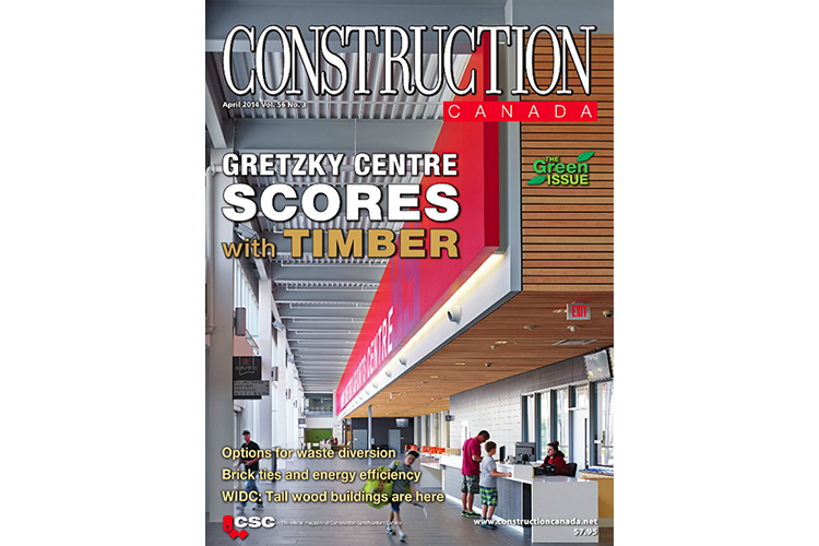 Wayne Gretzky Sports Centre, by  CS&P Architects  was featured on the cover of  Construction Canada Magazine  , April 2014 issue.  The article also included photos of the Chingaucousy ParkPicnic Shelters we photographed last fall.