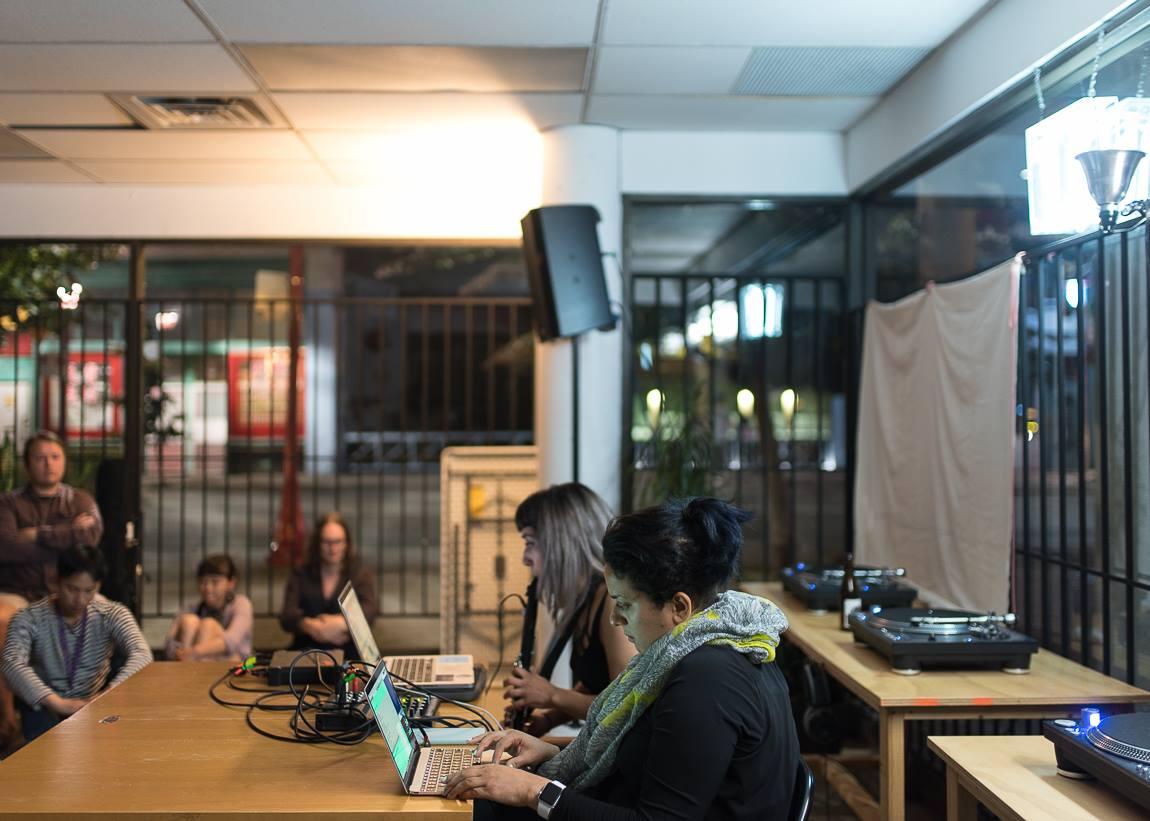 Kiran Bhumber & Norah Lorway performing at Tidal Signal festival