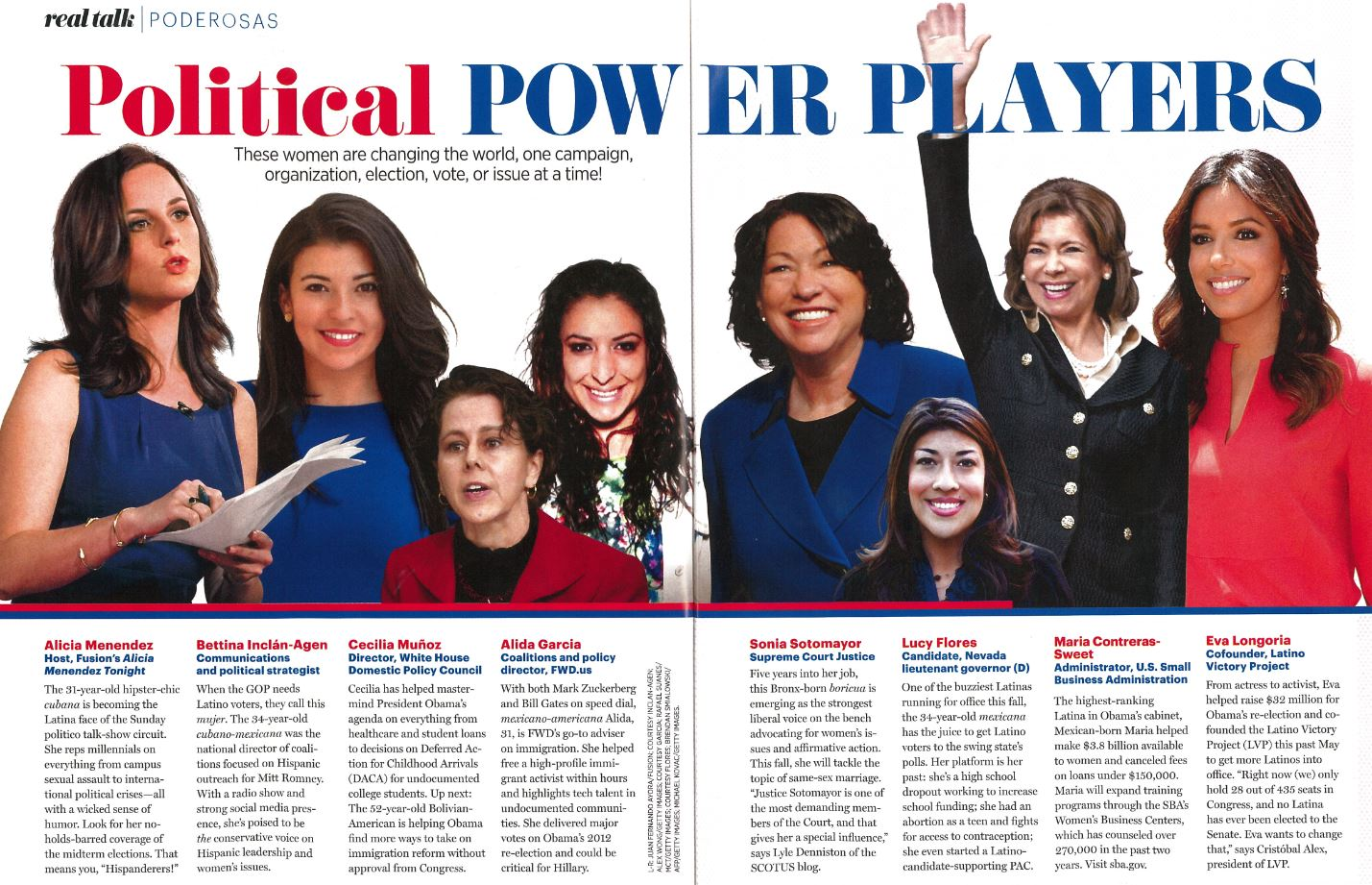 Cosmo for Latinas Political Power Players