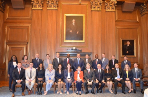 Post swearing in–a reception with the notorious RBG!