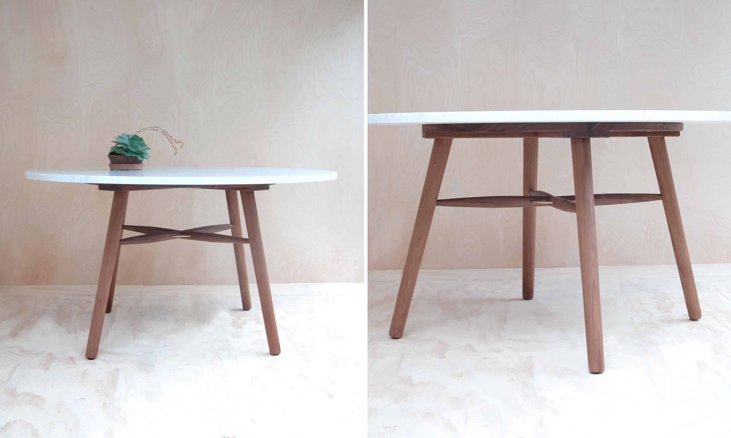 Hudson Workshop Marble Kitchen Table