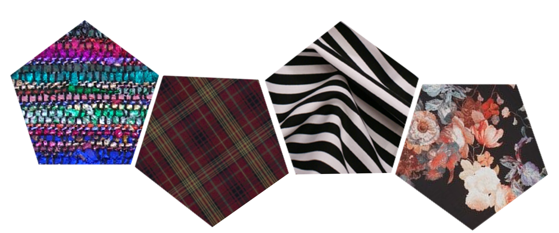 Fall colors and patterns abound!  Kensington Tartan by Ralph Lauren;other swatches sourced from  Kathmandu Connection ,  Gallery Hip , and  Patternatic . Image created by O. Okhade.
