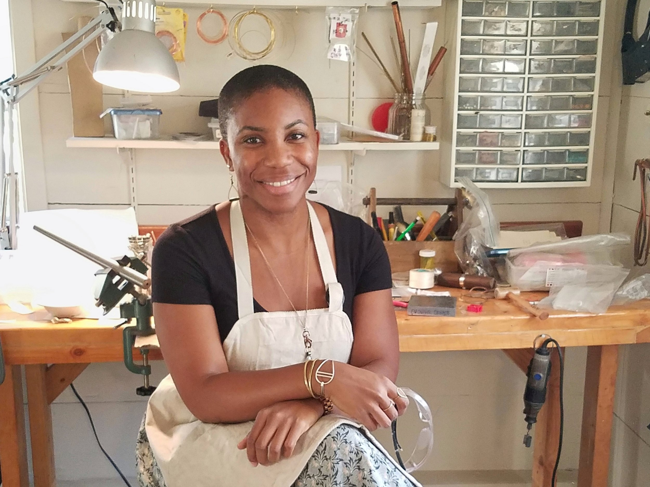 Omonivie Okhade of tula in bloom in studio