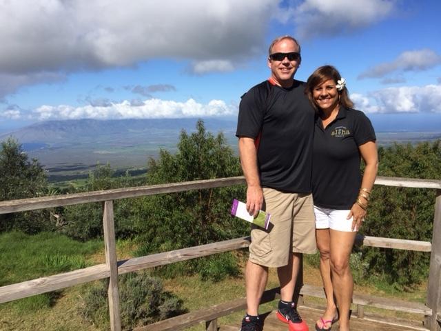 Derek and Cindy at the Lavendar Farm in Kula, Maui