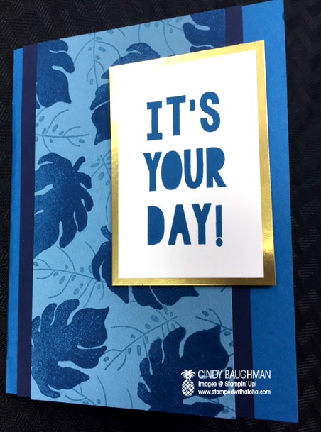 Blue Botanical Blooms Birthday Card
