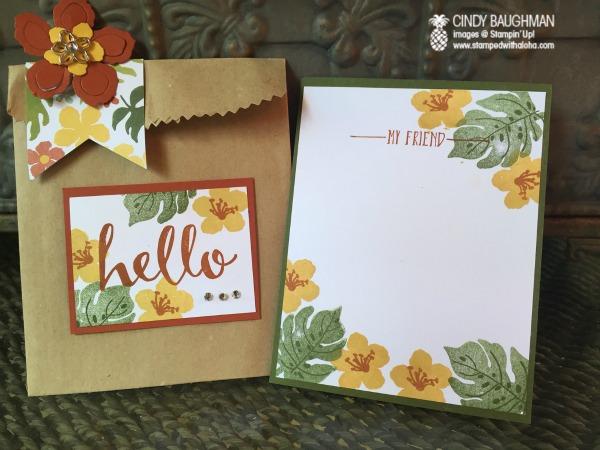 Botanical Card in A Bag