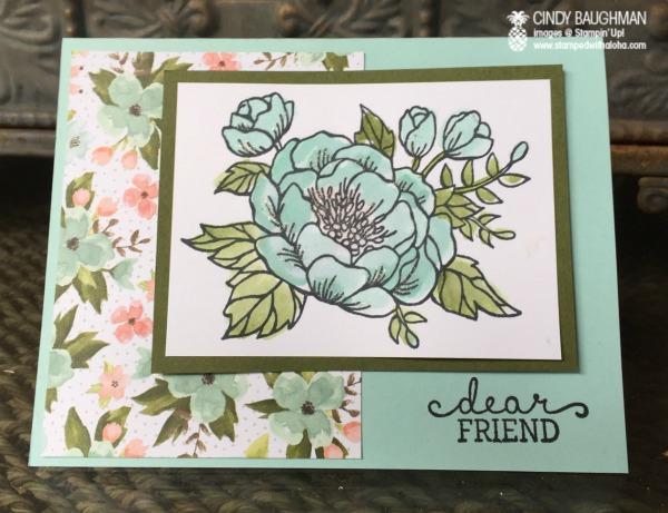 Birthday Blooms Friendship Card