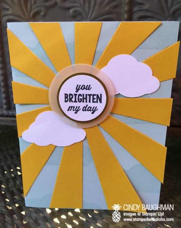 Sunburst Sayings Card