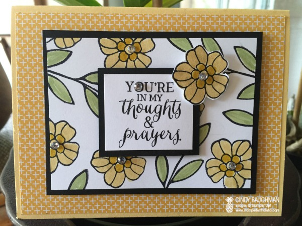 Rose Wonder Thoughts and Prayers Card - www.stampedwithaloha.com