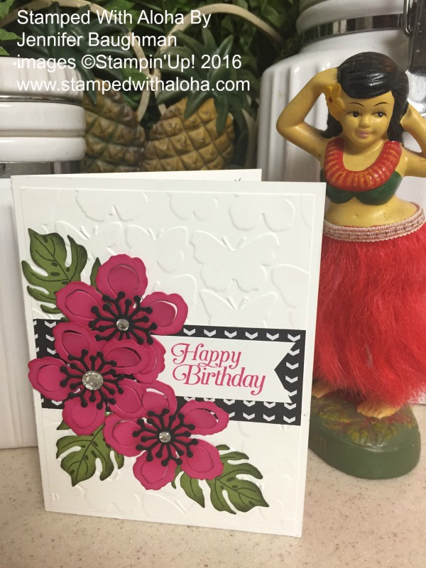 Botanical Birthday Card - www.stampedwithaloha.com