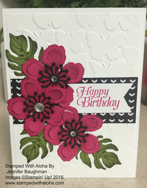 Botanical Blooms Card - www.stampedwithaloha.com