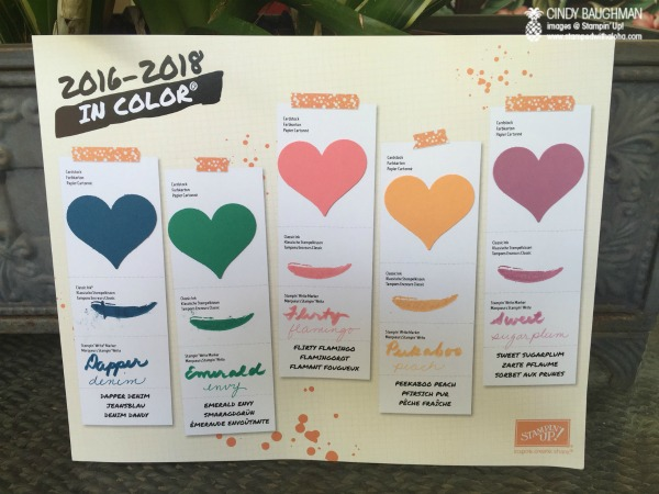 2016-2018 Stampin' Up! In Colors - www.stampedwithaloha.com