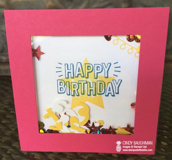 Shaker Card - www.stampedwithaloha.com
