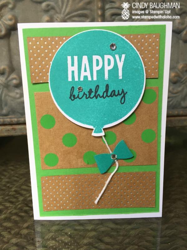 I'm bringing birthdays back - www.stampedwithaloha.com