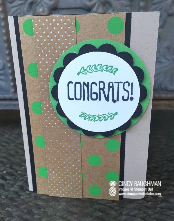Shine On Congrats Card -www.stampedwithaloha.com