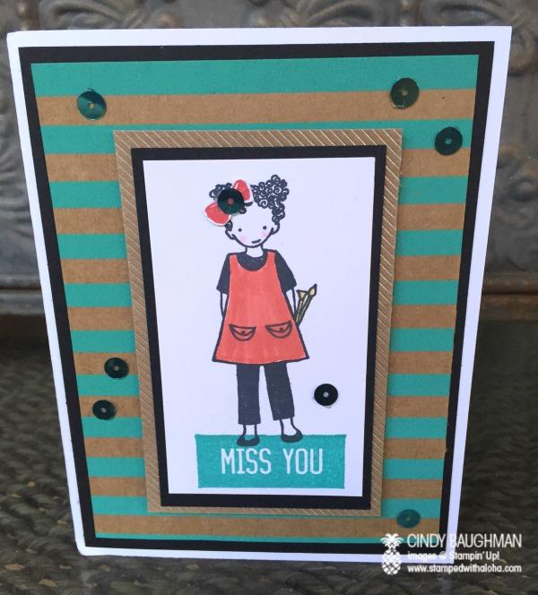 Shine On Talented Trio Card - www.stampedwithaloha.com