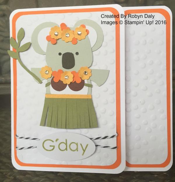 Koala Card - www.stampedwithaloha.com