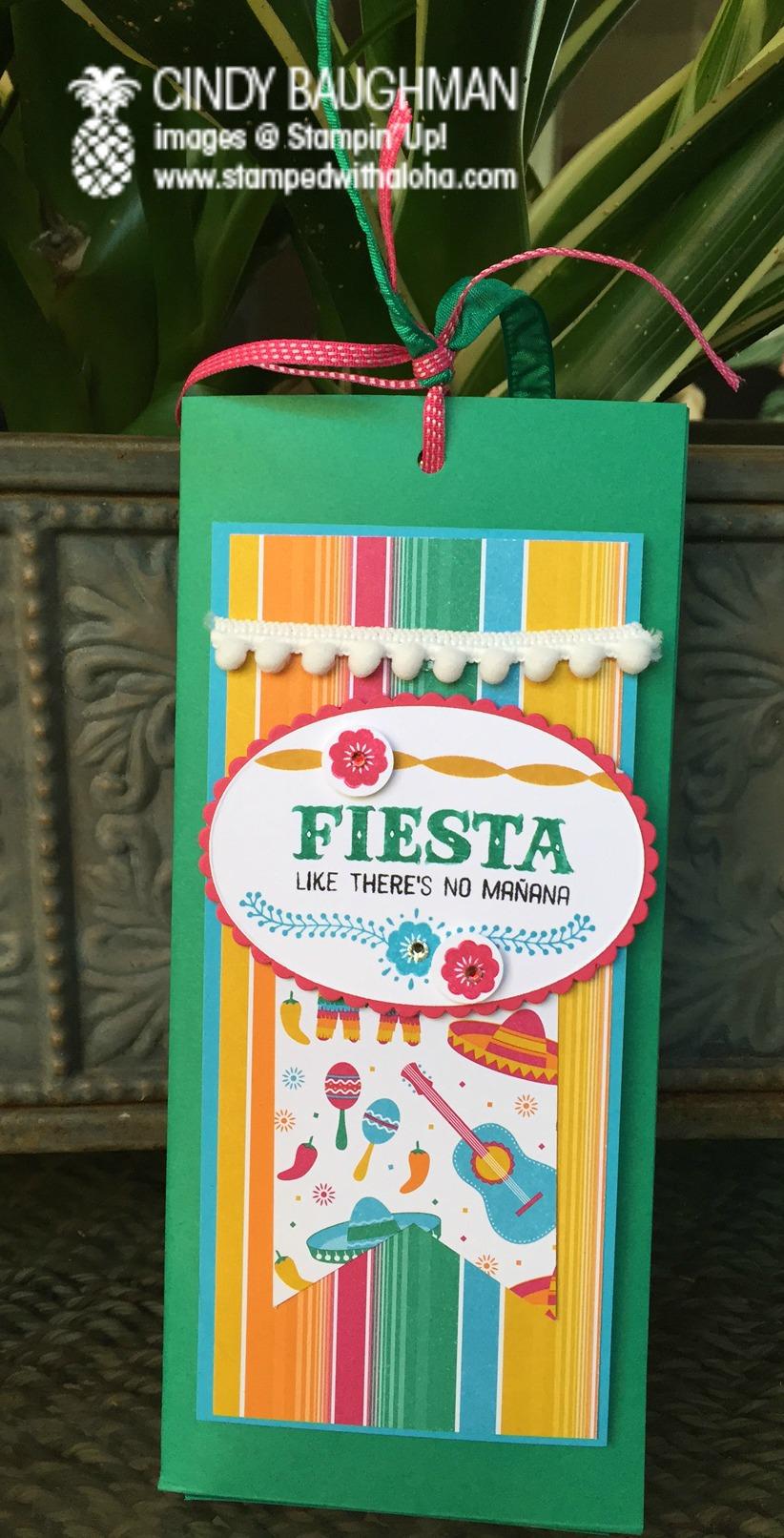 Fiesta Bunco Aloha Prize - www.stampedwithaloha.com