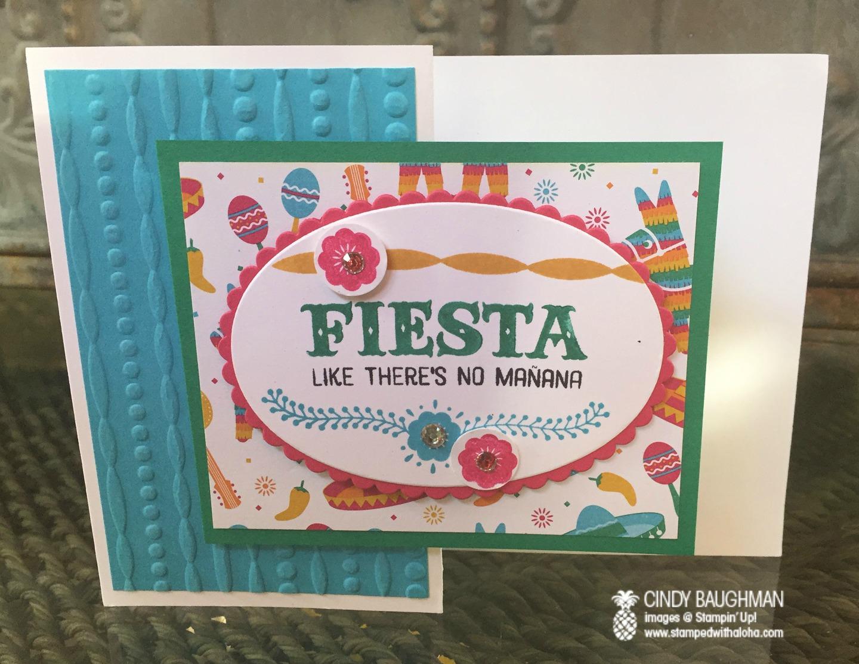 Birthday Fiesta Card - www.stampedwithaloha.com