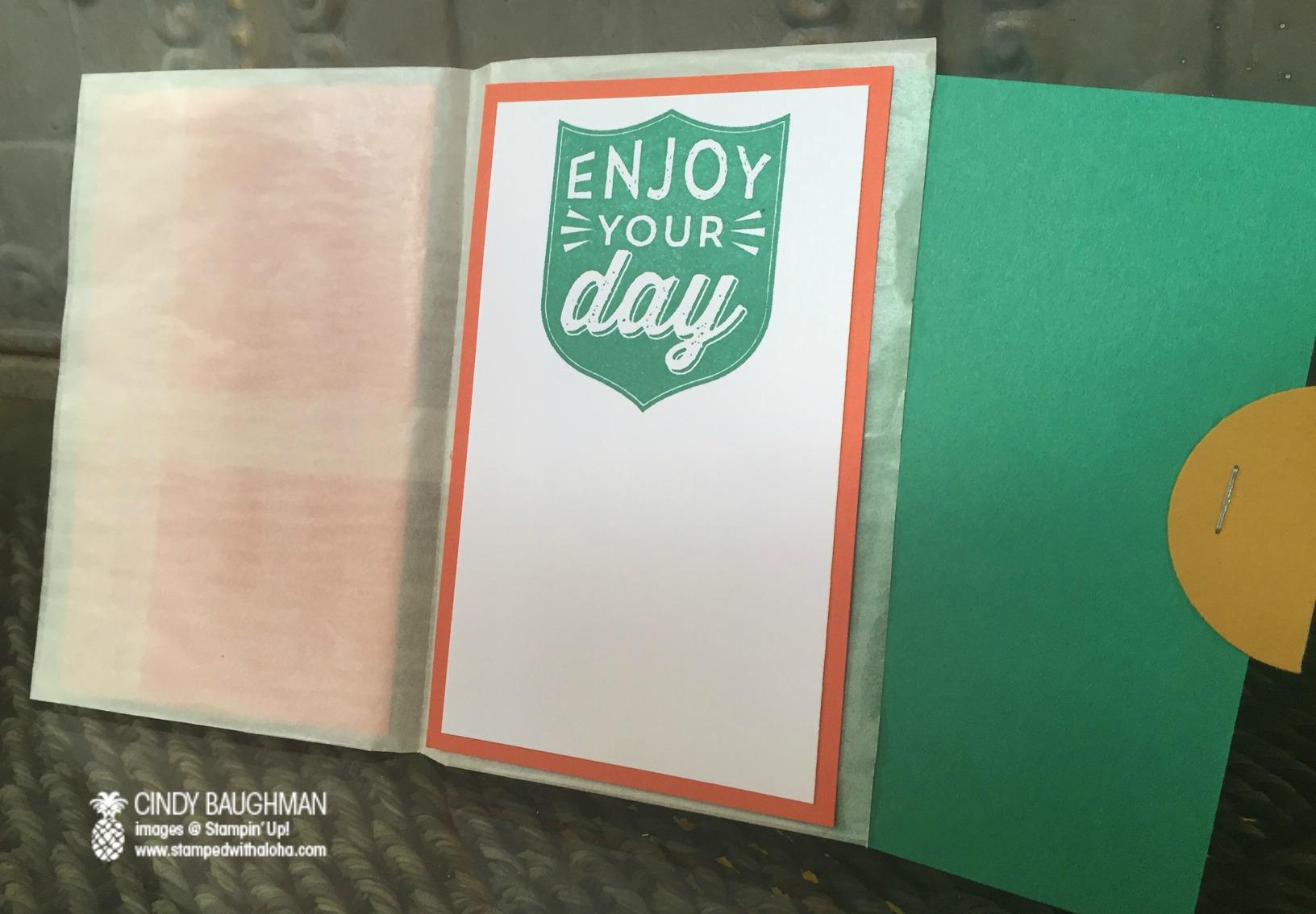 Glassine Bag Gift Card Holder - www.stampedwithaloha.com