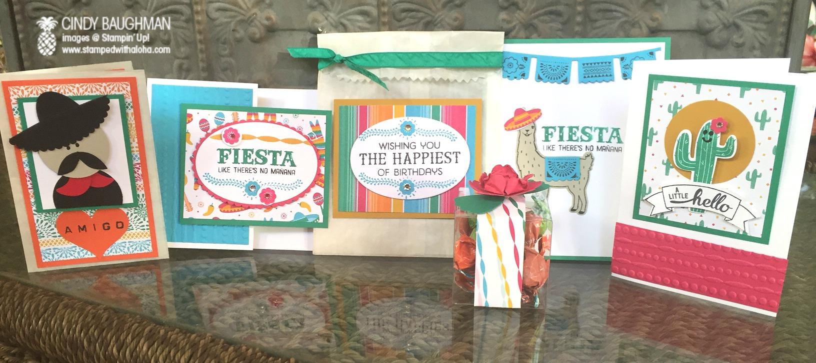 Birthday Fiesta Projects - www.stampedwithaloha.com