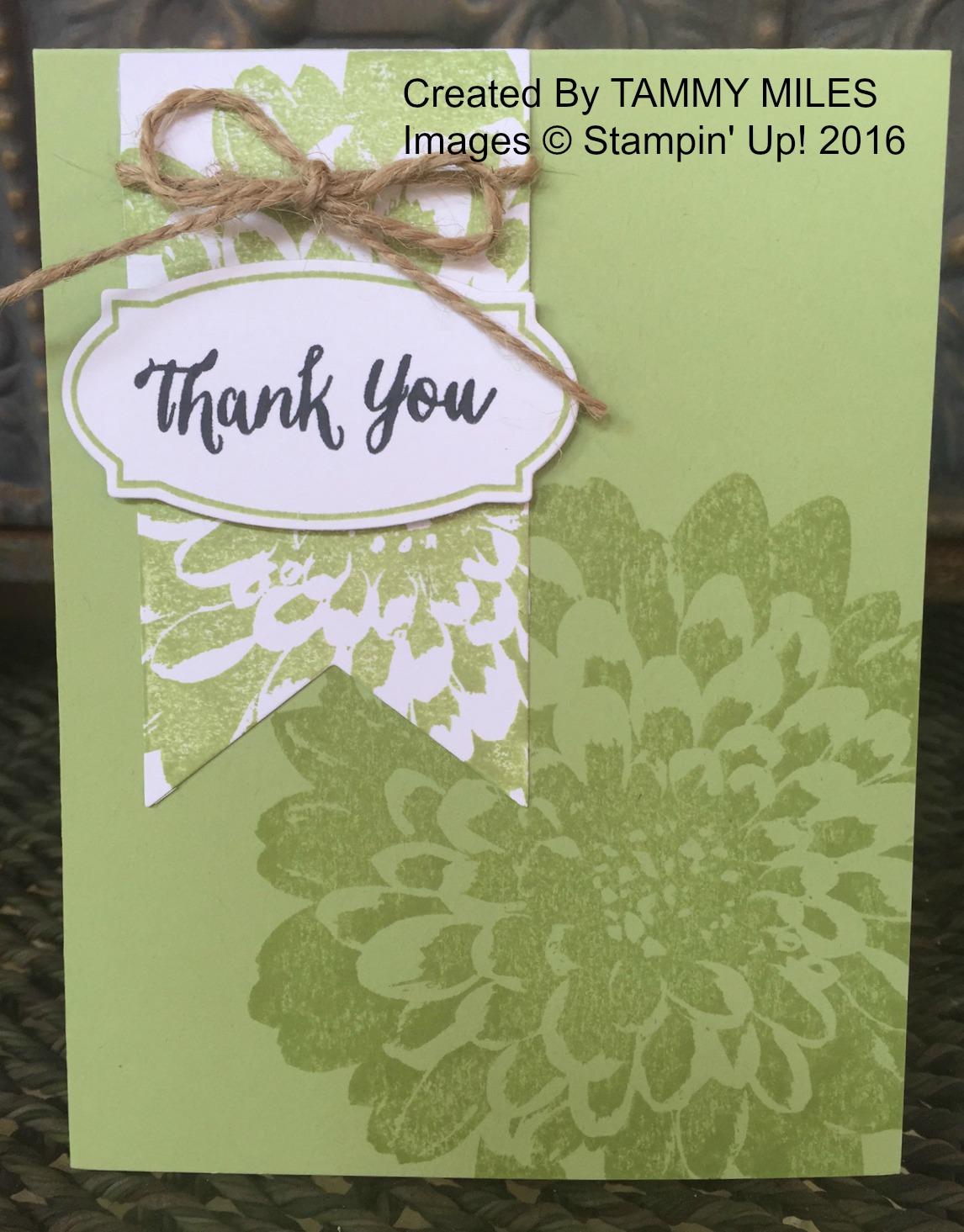 Tammy's Thank You card - www.stampedwithaloha.com