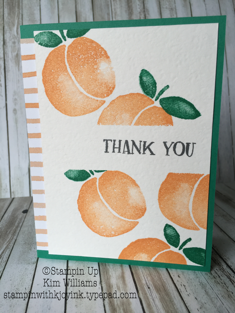 Peach Card Thank You Card created by Kim Williams - stampinwithkjoyink.typepad.com