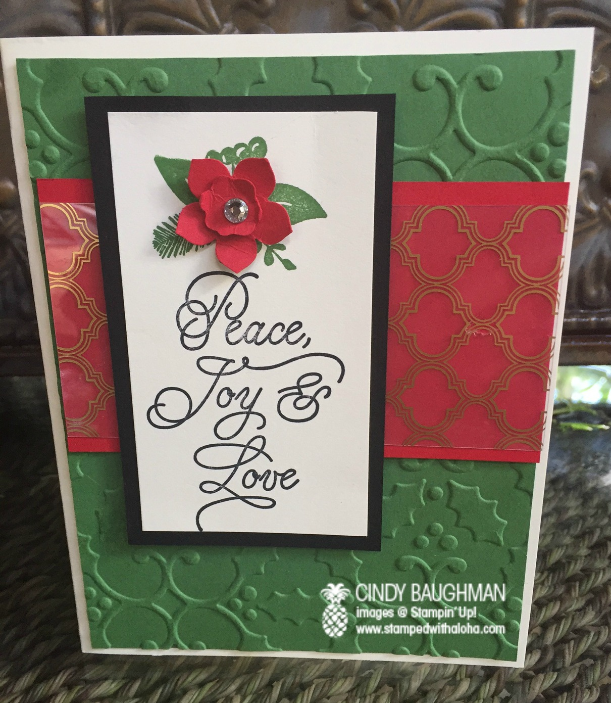 Peace This Christmas/Fabulous Foil Card - www.stampedwithaloha.com