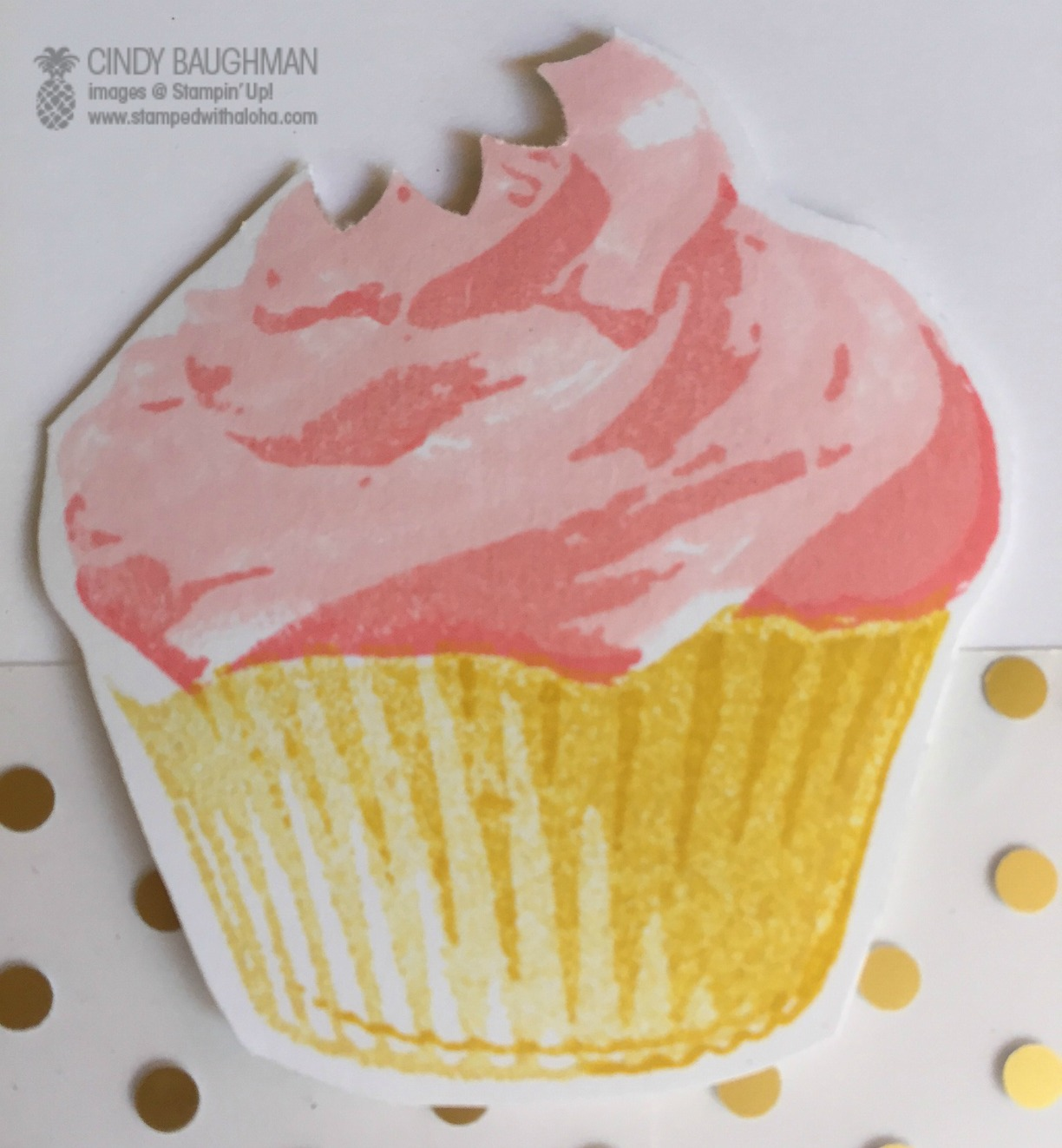 Sweet Cupcake - www.stampedwithaloha.com