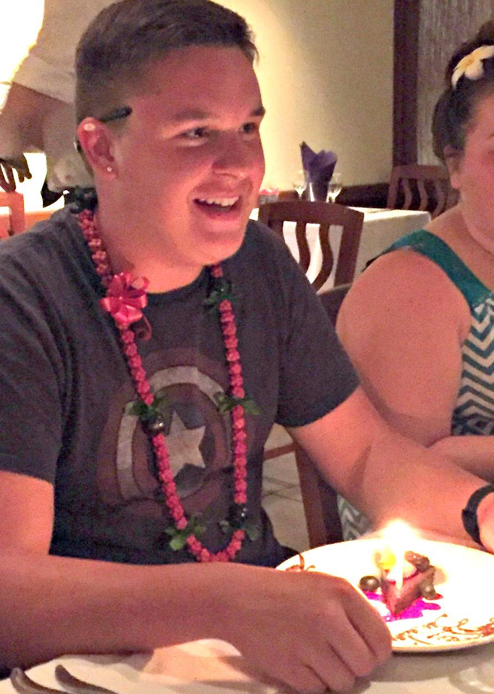 Celebrating Jacob at Roy's Waikiki - www.stampedwithaloha.com
