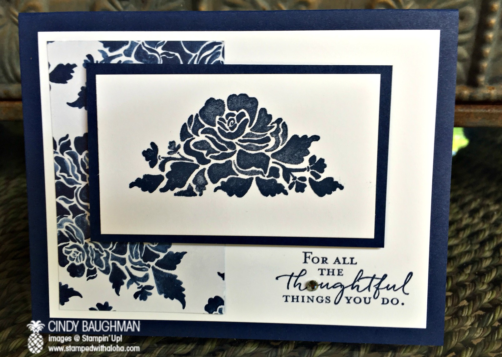 Floral Boutique Floral Phrases Card - www.stampedwithaloha.com