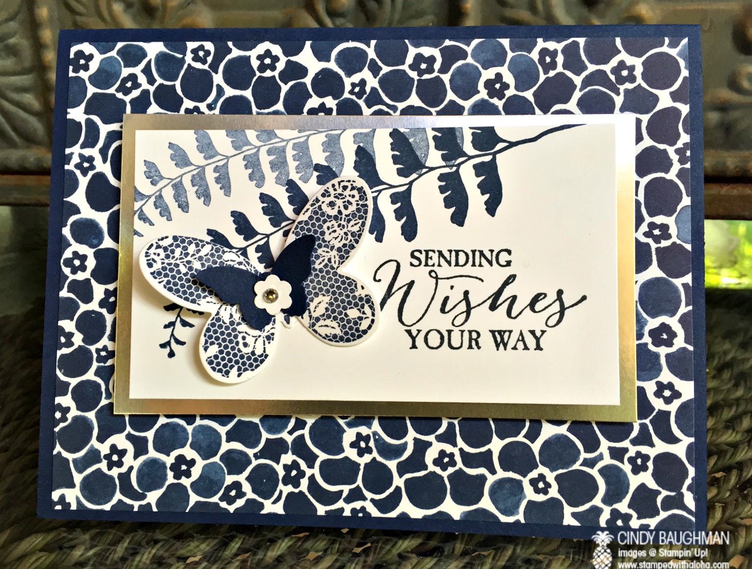 Floral Boutique Butterfly Basics Card - www.stampedwithaloha.com