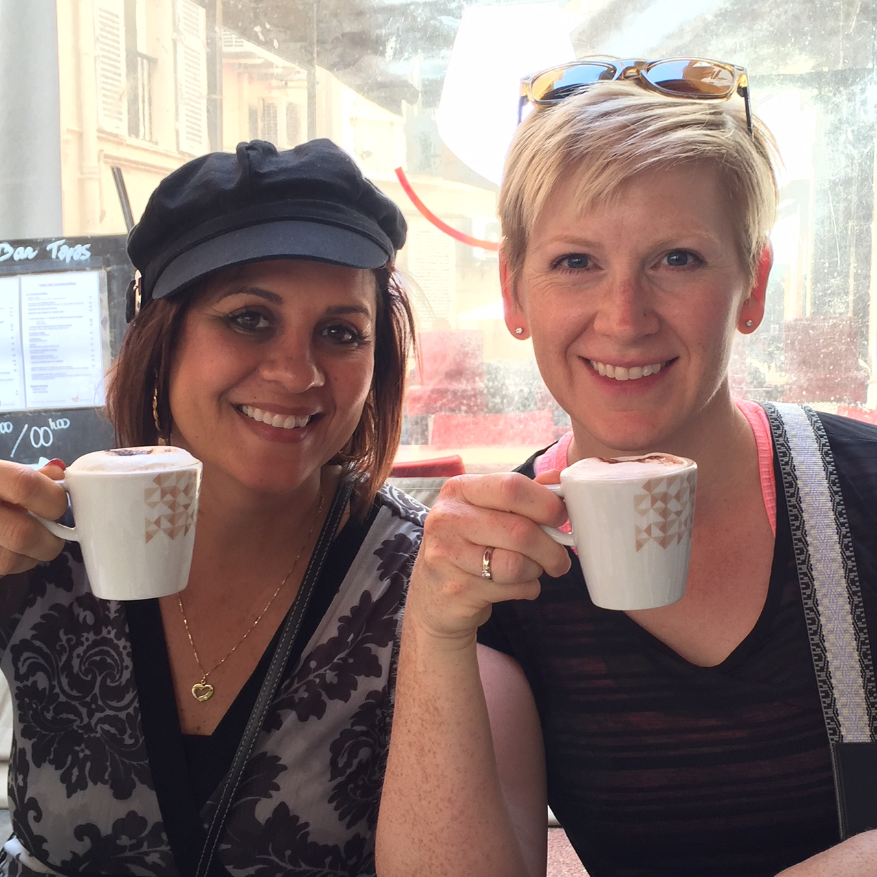 Sipping Espresso in Cannes, France with Lynsay - www.stampedwithaloha.com